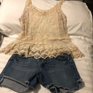 Express Lacy Tank